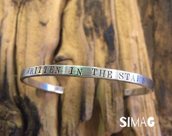 what's written in the stars. Custom ur cuff bracelets with ur own message. Text . Song . Wedding Date. Birthday . Names. with Love - SimaG