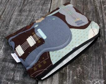 Reusable Snack Bag Makeup Bag Dog Treat Waterproof Bag Guitars Ready to Ship