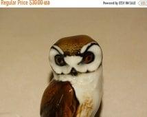 HUGE SALE Fine Porcelain Owl Made in Germany Lion Hallmark 1814 Hooter Barn Owl Wise Ole Owl Bird Strigiformes nocturnal Hawk Owl Burrowing