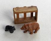 Yellowstone Park Brown Bear Vintage Souvenir Baby Black Bear Miniature
