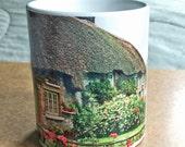 St Patricks Mug, Cottage Mug Coffee Cup Mug Girlfriend Gift Flower Garden Mug Wife Gift Irish Scene Boyfriend Gift Ceramic White Mug