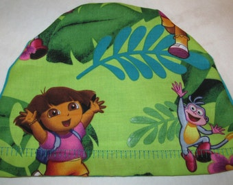 Kid's Chemo Hat, New Dora the Explorer Children's Cancer Cap, Alopecia, Sleep Cap