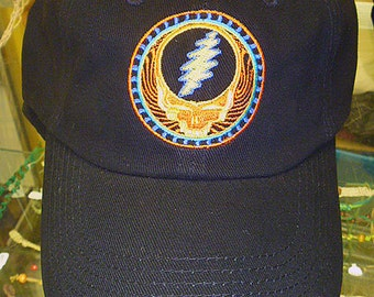 Grateful Dead Hat -  SYF Good Day Sunshine  Baseball Cap   Hippie  Deadhead