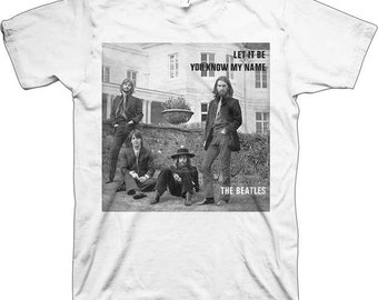 Beatles You Know My Name White Shirt  Size  Large    Fab Four  music