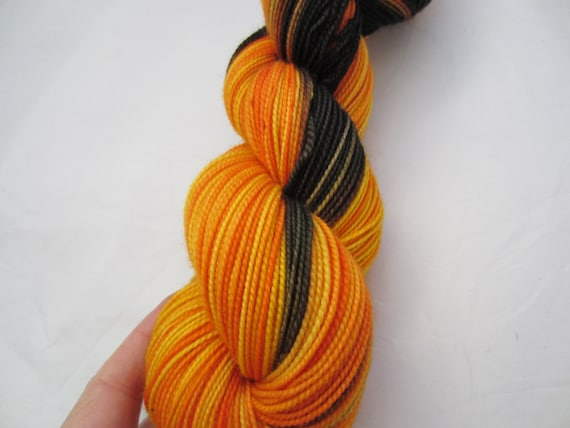 Shadows and Flame - Dyed to Order - Hand Dyed - Merino Wool Yarn - Fingering Weight