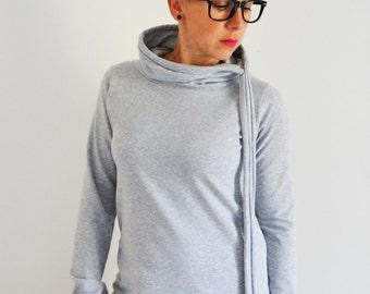 Sweatshirts for women,sweaters for women,clothing for women,gray sweaters,gray sweatshirts,designer