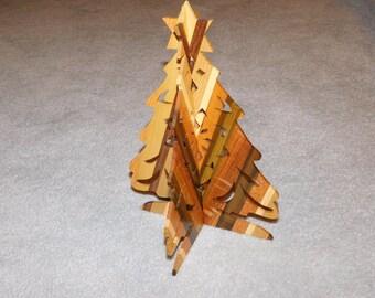 Wood Christmas Tree Decoration - Large Size