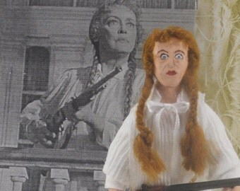 Bette Davis Fan Art Miniature Doll as in Hush Hush Sweet Charlotte