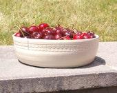 White Ceramic Fruit Bowl, Pottery Wedding Gift, White  serving bowl, Farmhouse Pottery Bowl, Shower Gift, Kitchen Decor Bowl, Kitchen Gift