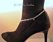 SALE Plus Size Crystal Charm Boot Anklet Free Ship