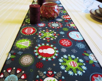 Holiday Decor-Christmas Gift Hostess- Christmas Table Runner -Foodie Gifts -Holiday Table Runner- Snowman Table Runner -Reindeer Decor