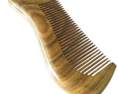 Fedol Aromatic Green Sandalwood Comb for Curly / Wavy Hair. Anti Static Wooden Comb. 4 3/4 x 2 Inches, Free Gift Bag.