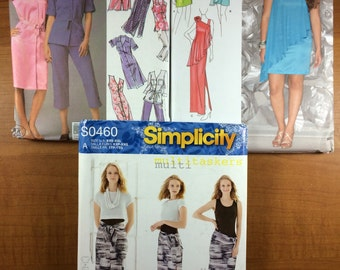 Simplicity 5191 1657 1256 Lot of 3 Sewing Patterns Sizes 18-20-22-24-26  Design Your Own Outfits evening dress etc