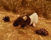 Brown Hooded Rat Plushie