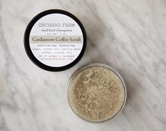 Coffee Cardamon Sugar Scrub//Natural Moisturizer//Exfoliant