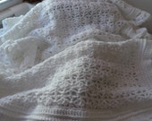 Baby.Blanket.Crochet.Made in U.S.A.Pink.White.Pound of Love.Baby Shower.Gift.Receiving blanket.Blue.