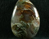 Linda Marie Plume Agate Freeform Cabochon from Oregon 25x37x7mm