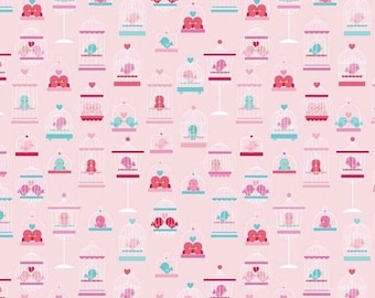 50% OFF Lovey Dovey Main Pink - 1/2 Yard