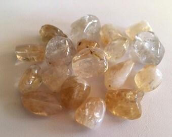 Citrine Beads, 18 Natural Citrine Gemstone Beads