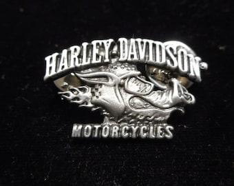 vintage harley davidson pin. ROAD HOG    FANTASTIC