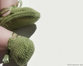 CROCHET PATTERN - Baby Ribbon Shoes - Instant Download (PDF)