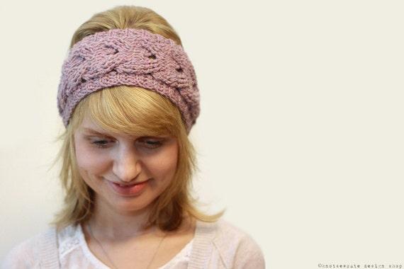 Crochet Headband Pattern Cable : CROCHET PATTERN Cabled Crochet Headband Instant Download