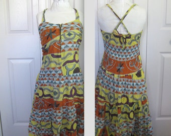 summer dress . maxi cotton dress. spaghetti strap dress . hippie dress