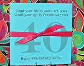 40th Birthday - Adult Party Favors - Lottery Ticket Favors