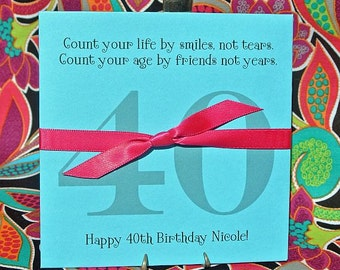 40th Birthday - Adult Birthday Favor - 40th Birthday Favors - 40th Favors - Adult Party Favors - Birthday Lotto Favor - 50th Birthday