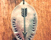 Follow Your Own Arrow spoon head necklace