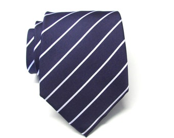 Mens Ties Blue and White Stripes Mens Neckties