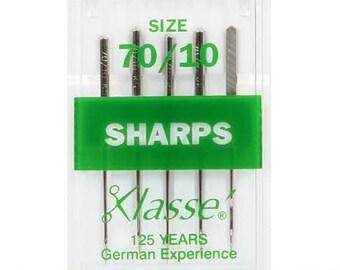 Klasse Sharp/Microtex Machine Needle Size 70/10 5ct