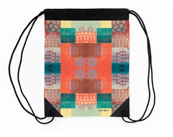 Unique Drawstring Backpack,Cinch Sack,Supplies for Back to School,Holiday Gifts for Students,Going off to College Gifts,Carry All Bag