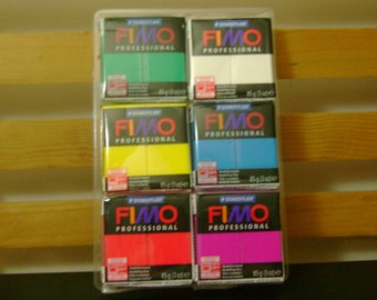 SALE - FIMO - Professional True Colors  Clay - 6 color package