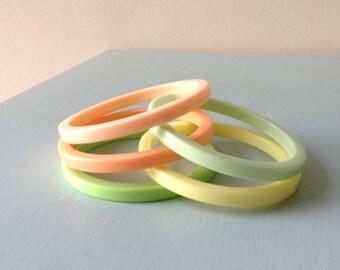 Sherbert Plastic Bangles