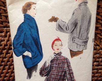 Vintage vogue jacket pattern 1952