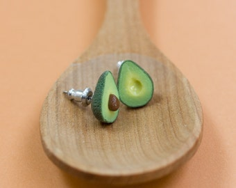 Avocado Earrings, Miniature Fruit and Veggies Jewelry
