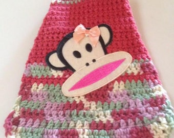 Crochet Small Monkey Sweater Chihuahua Yorkie Puppy Dog Clothes Pets