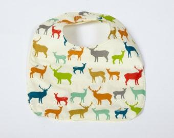 Organic Baby Bib Bears / Modern Baby Baby Bib / Teething Bib / Drool Bib / Gender Neutral Gift Bib/ 100% Organic Cotton / Bear / Bear Print