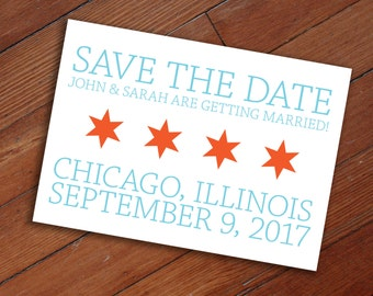 Save the Date: Chicago Flag