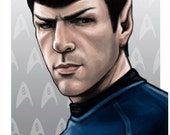 Star Trek Spock Zachary Quinto 11 x 17 Digital Painting Print