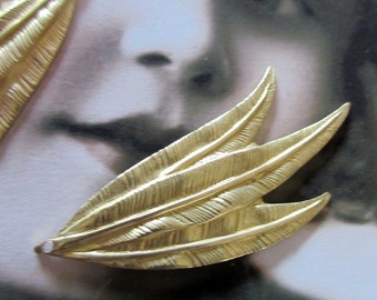 Raw Brass Leaf Stampings Charms 640RAW x2
