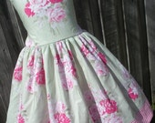 ON SALE Ready to Ship Custom Boutique  Spring Flower Dress Girl Size 5 / 6 Slim Size 7