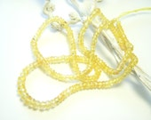 Canary Yellow Sapphire Roundels - Half Strand - 2.25 to 3.5mm - 7.75 Inches