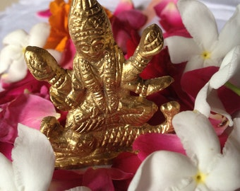 River Goddess - NarmadaMaa - Hindu Murti Altar Statue