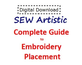 Complete Guide to Embroidery Placement - PDF File - Instant Download