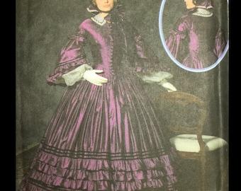 Civil War Reenactor Costume Antebellum Hoop Dress Wedding Fashion Historian Sewing Pattern 4510 8 10 12 14