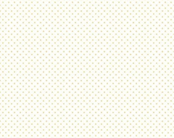 Riley Blake Designs, Swiss Dot On White Color Yellow (C660 50)