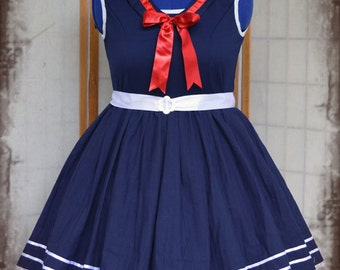 Lolita babydoll nautical sailor cosplay dress