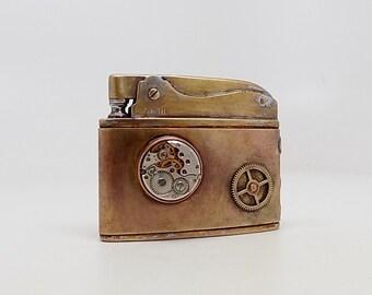 Steampunk lighter. Vintage lighter.